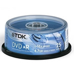 DVD+R4.7 TDK 16x, hengeres