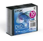 DVD-R TDK 16x 10db.slim tokos