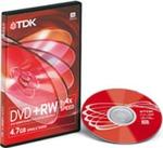 DVD+RW4.7Gb TDK 4x DVD-tokos
