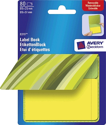 Etikett 50x81mm, AVERY 8319,