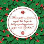 Hűtőmágnes karácsonyi XMHM-036
