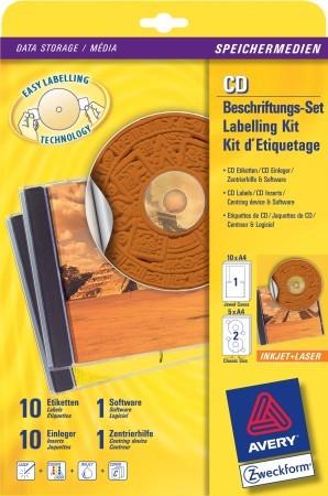 CD címkéző készlet AVERY 6407,