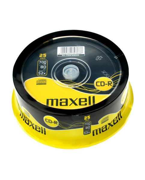 CD-R80 MAXELL 52x, 25 db-os, hengeres