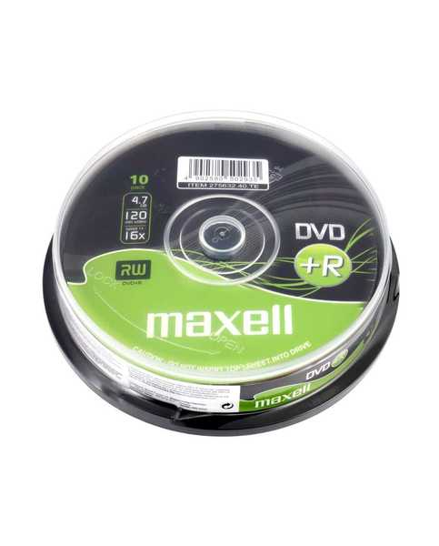 DVD+R4.7Gb MAXELL 16x, 10 db, hengeres