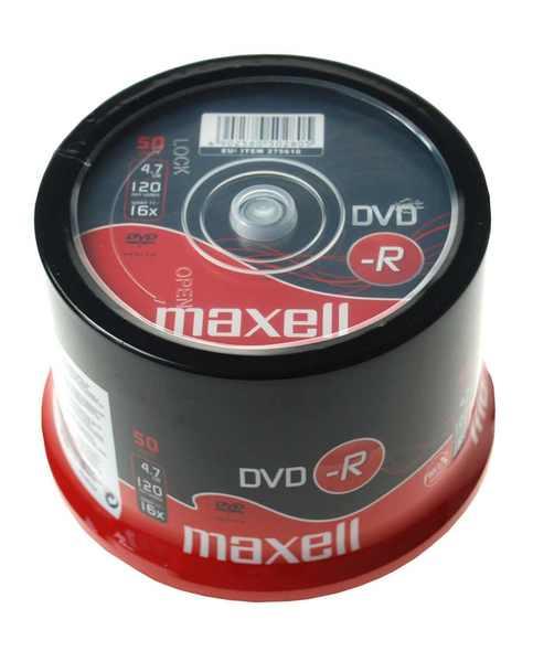 DVD-R4.7Gb MAXELL 16x, 50 db, hengeres
