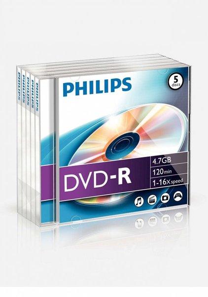 DVD-R4.7GB PHILIPS 16x, gyári, vastagtokos
