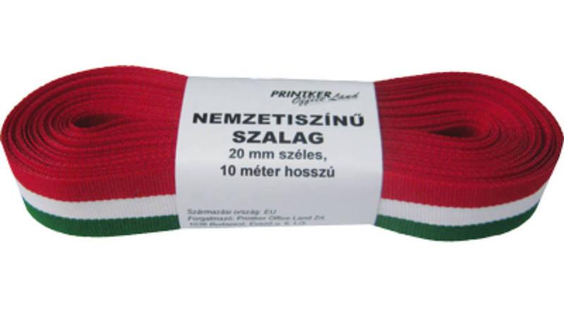 Nemzeti színű szalag 20mmx10m, GRS, tekercses
