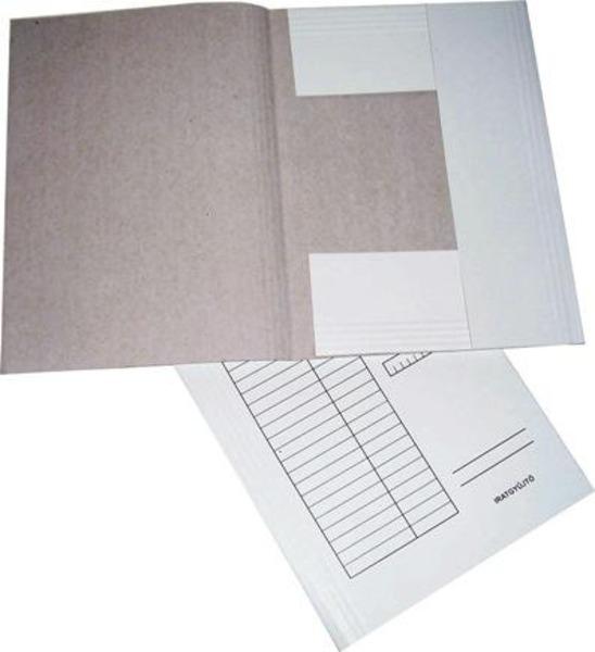 Pólyás dosszié A4, papír, GRS, 230 gr, táblázatos, fehér