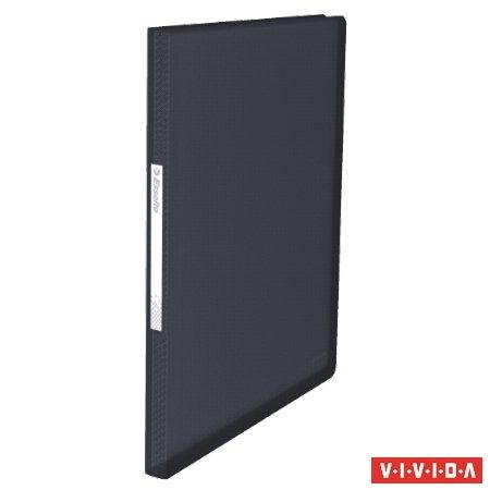 Iratvédő mappa A4, ESSELTE Vivida PP, puha borító, 100 lap, fekete