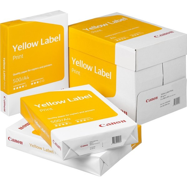 Másolópapír A4, 80g, CANON Yellow Label Print, 500 lap, fehér