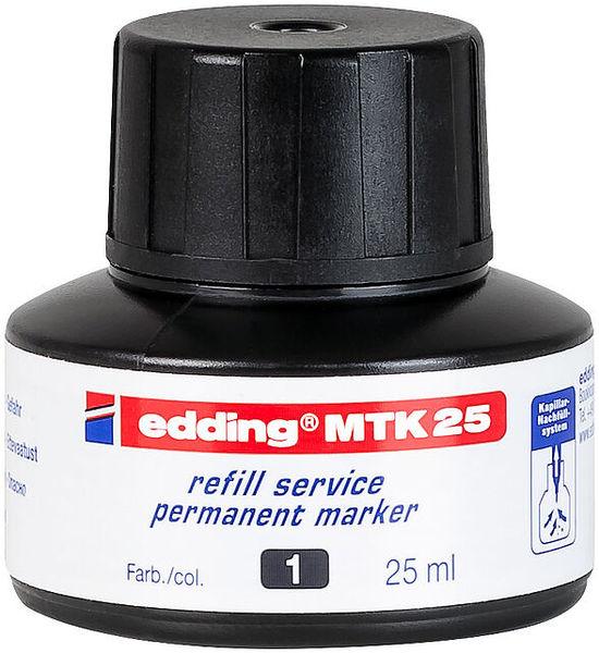 Utántöltő tinta EDDING MTK 25, alkoholos markerhez, 25 ml, fekete