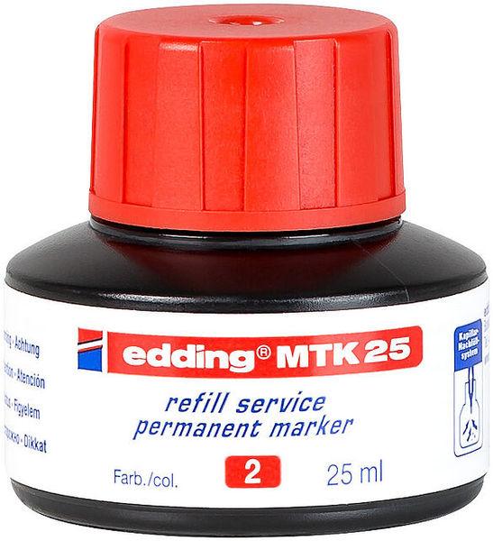 Utántöltő tinta EDDING MTK 25, alkoholos markerhez, 25 ml, piros