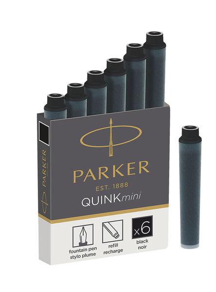 Tintapatron PARKER Royal 1950407, rövid, 6 db-os, fekete
