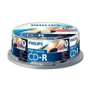 CD-R80 PHILIPS 52x, 25 db-os, hengeres