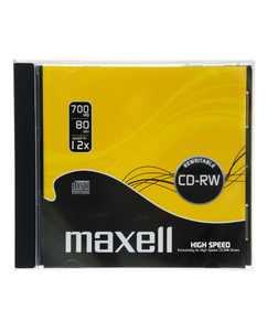 CD-RW80 MAXELL 4x, vastag tokos, újraírható CD
