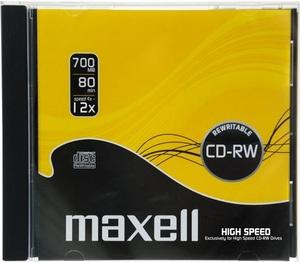 CD-RW80 MAXELL 12x, vastag tokos, újraírható CD