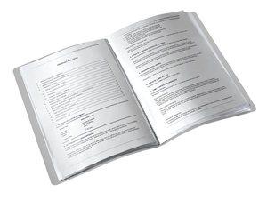Iratvédő mappa A4, LEITZ Style PP, 20 zsebes, titánkék