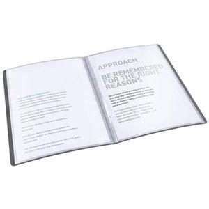 Iratvédő mappa A4, ESSELTE Vivida PP, puha borító, 20 tasak, fekete