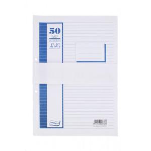 Gyűrűskönyv betét A4, 50 lap, GRS, 4 lyukú, fehér, vonalas