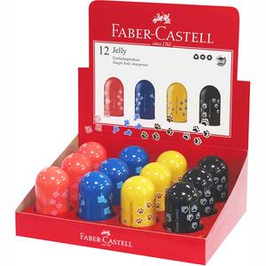 Hegyező 1 lyukú, műanyag, FABER-CASTELL Jelly, tartályos, vegyes