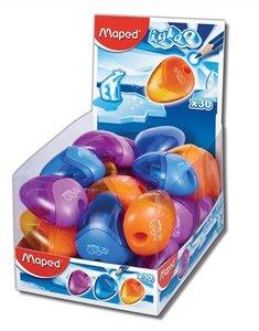 Hegyező 1 lyukú, MAPED I-Gloo, tartályos, műanyag, vegyes színekben