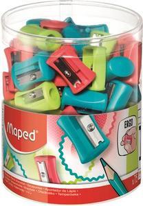 Hegyező 1 lyukú, MAPED Vivo, műanyag, nem tartályos, vegyes színek